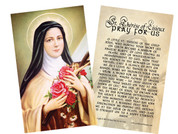 St. Therese Holy Card