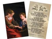 St. Cecilia Holy Card