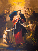 Mary Undoer of Knots Wall Graphic
