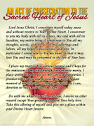 An Act of Consecration to the Sacred Heart of Jesus Teaching Tool