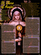 St. Clare of Assisi Explained Teaching Tool