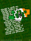St. Patrick With Prayer Wall Graphic