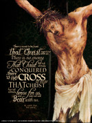 Crucifixion (JPII Quote) Wall Graphic