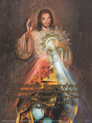 John Paul II Divine Mercy Wall Graphic