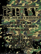 Pray for Our Troops Wall Graphic