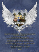 St. Michael Defend Us Heraldic Wall Graphic