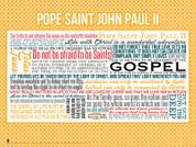 Saint John Paul II Quote Wall Graphic