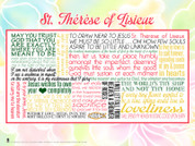 Saint Therese of Lisieux Quote Wall Graphic