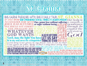Saint Gianna Molla Quote Wall Graphic