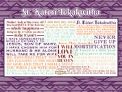 Saint Kateri Tekakwitha Quote Wall Graphic