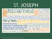Saint Joseph Quote Wall Graphic
