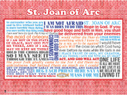 Saint Joan of Arc Quote Wall Graphic