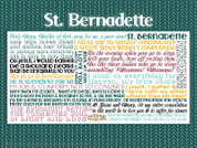 Saint Bernadette Quote Wall Graphic