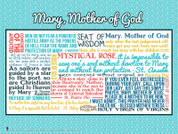Mary, Mother of God Quote Wall Graphic