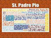 Saint Padre Pio Quote Wall Graphic