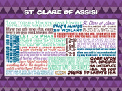 Saint Clare of Assisi Quote Wall Graphic