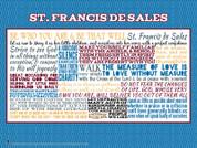 Saint Francis de Sales Quote Wall Graphic