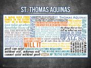 Saint Thomas Aquinas Quote Wall Graphic