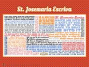 Saint Josemaria Escriva Quote Wall Graphic