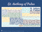 Saint Anthony of Padua Quote Poster