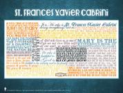 Saint Frances Xavier Cabrini Quote Poster
