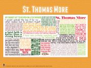 Saint Thomas More Quote Poster