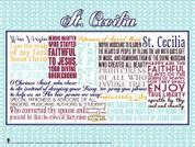 Saint Cecilia Quote Poster