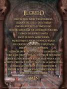 Spanish Apostles Creed Poster