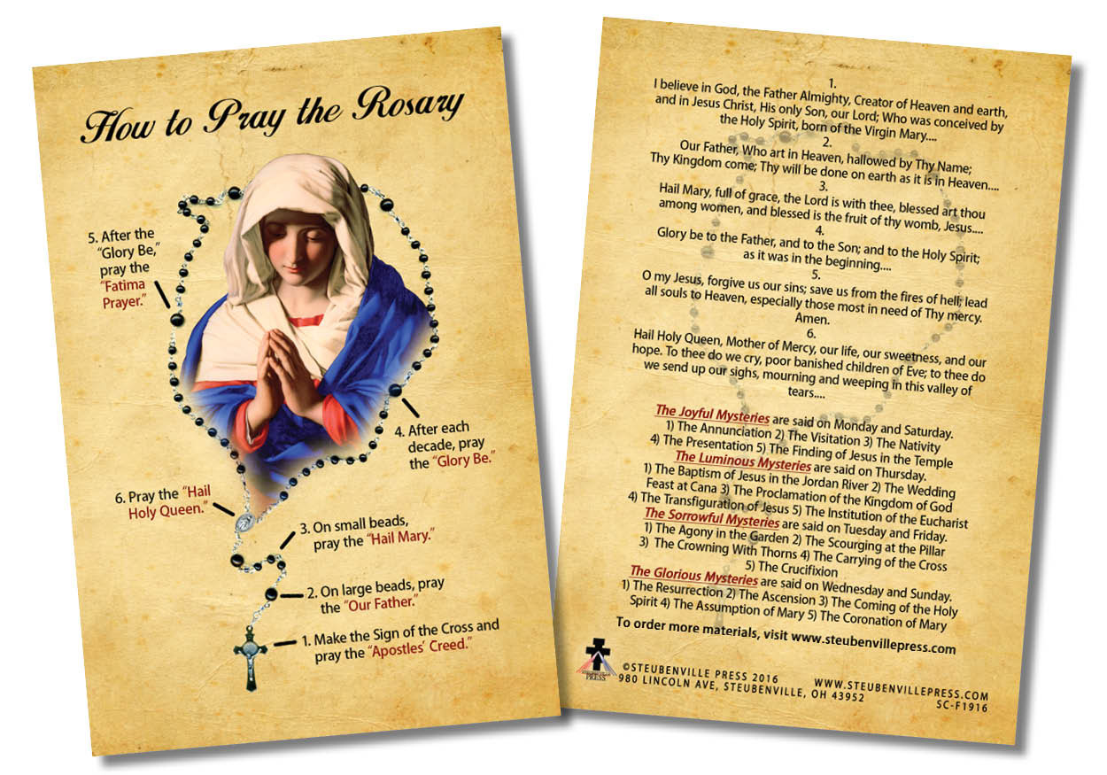 How to Pray the Rosary Faith Explained Card