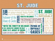 Saint Jude Quote Poster