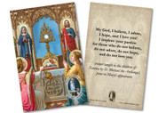 "Adoring Angels ""My God, I Believe, I Adore"" Fatima Holy Card"