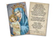 Mater Ecclesiae - St. Peter's Square Mosaic Holy Card