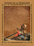 Spanish Litany of Humility Graphic Poster