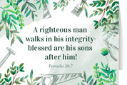 """A Righteous Man"" Father's Day Greeting Card"