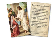 Spanish Prayer in Times of Epidemics Holy Card