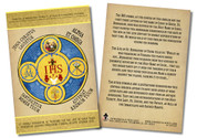 Latin Holy Name Emblem Faith Explained Card