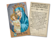 Mary, Mother of Our Church Consecration Holy Card