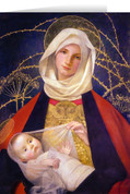 Madonna and Child by Marianne Stokes Greeting Card