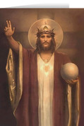 Christ the King by Chambers Restored Greeting Card