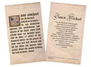 Latin-English Saint Michael Prayer Holy Card