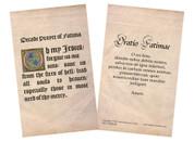 Latin-English Decade Prayer of Fatima Holy Card