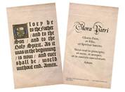 Latin-English Glory Be Holy Card