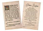 Latin-English Hail Holy Queen Holy Card