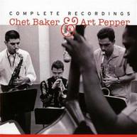 CHER BAKER / ART  PEPPER - COMPLETE RECORDINGS CD