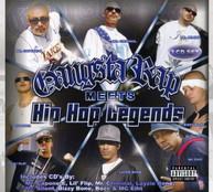 GANGSTA RAP MEETS HIP-HOP LEGENDS VARIOUS - GANGSTA RAP MEETS HIP -HOP CD