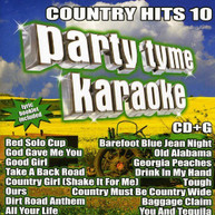 PARTY TYME KARAOKE: COUNTRY HITS 10 VARIOUS CD