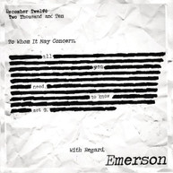 EMERSON - ALL YOU NEED TO KNOW CD