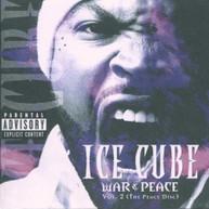 ICE CUBE - VOL. 2-WAR & PEACE (IMPORT) CD
