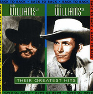 HANK WILLIAMS SR HANK WILLIAMS JR - BACK TO BACK: THEIR GREATEST - CD
