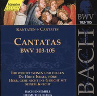 BACH GACHINGER KANTOREI RILLING - SACRED CANTATA BWV 103 - SACRED CD